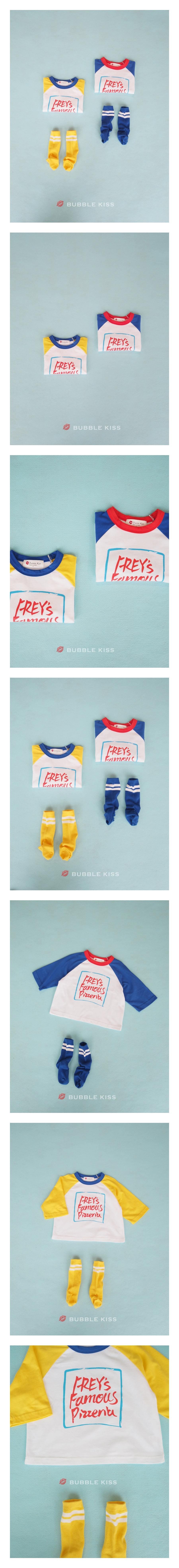 BUBBLE KISS - Korean Children Fashion - #Kfashion4kids - Candy Raglan Tee