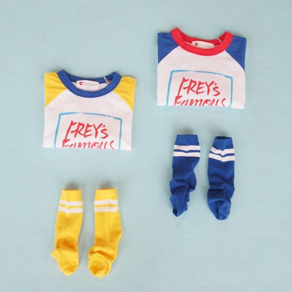 BUBBLE KISS - BRAND - Korean Children Fashion - #Kfashion4kids - Candy Raglan Tee
