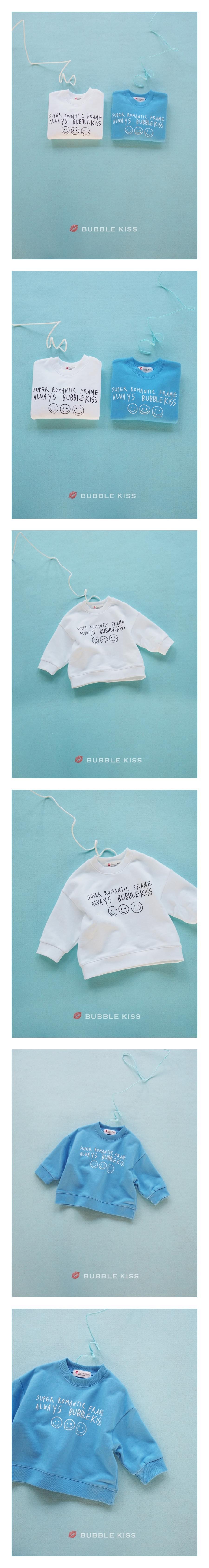 BUBBLE KISS - Korean Children Fashion - #Kfashion4kids - Smile Sweatshirt