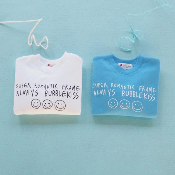 BUBBLE KISS - BRAND - Korean Children Fashion - #Kfashion4kids - Smile Sweatshirt