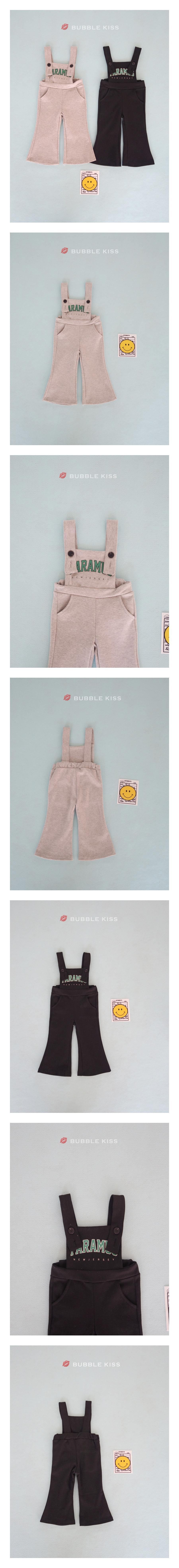 BUBBLE KISS - Korean Children Fashion - #Kfashion4kids - Suspender Bootscut Pants