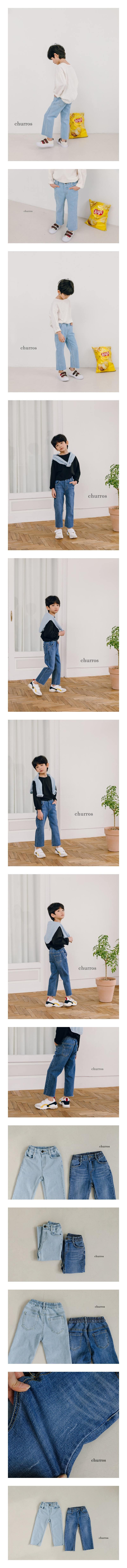 CHURROS - Korean Children Fashion - #Kfashion4kids - Stripe Denim Pants