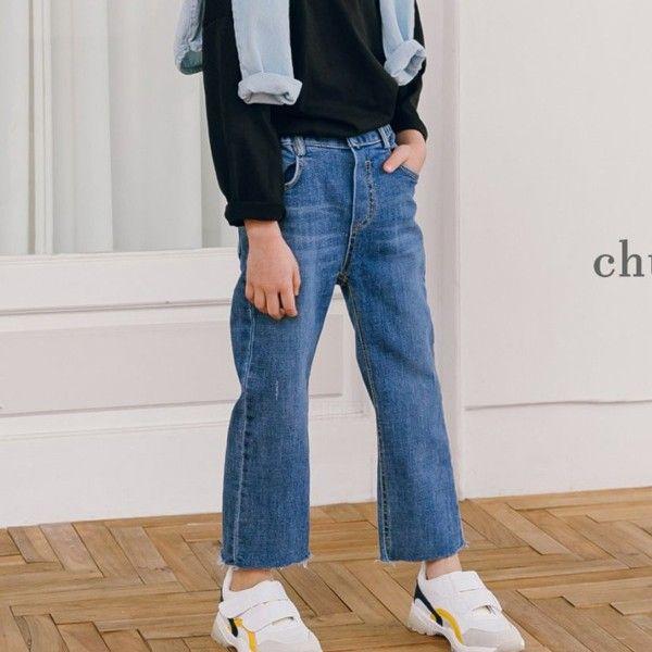 CHURROS - BRAND - Korean Children Fashion - #Kfashion4kids - Stripe Denim Pants