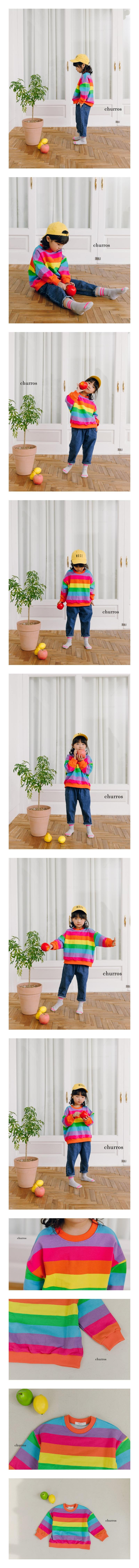 CHURROS - Korean Children Fashion - #Kfashion4kids - Rainbow Sweatshirt