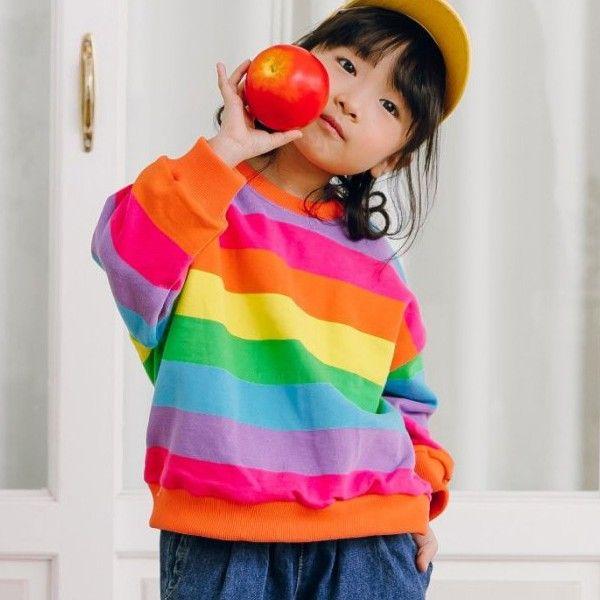 CHURROS - BRAND - Korean Children Fashion - #Kfashion4kids - Rainbow Sweatshirt