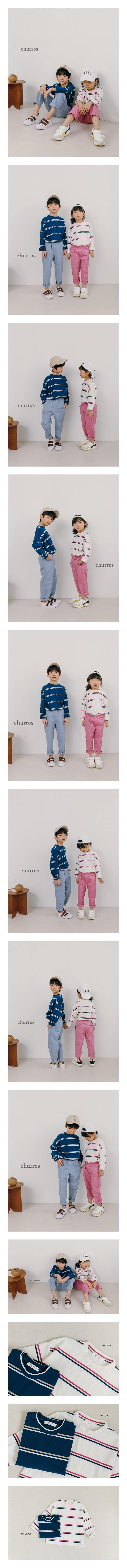 CHURROS - Korean Children Fashion - #Kfashion4kids - 3 Stripes Tee