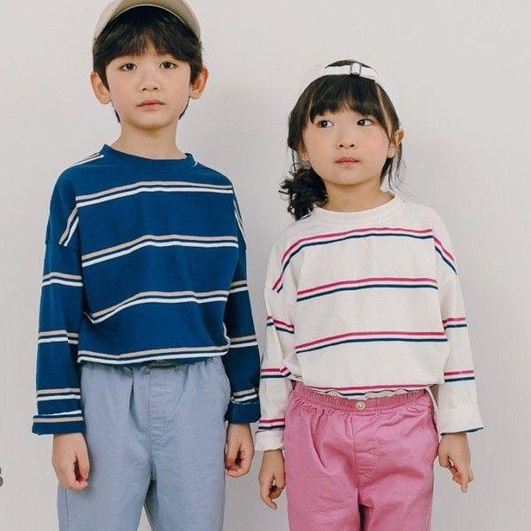 CHURROS - BRAND - Korean Children Fashion - #Kfashion4kids - 3 Stripes Tee