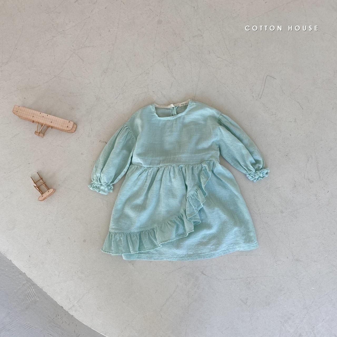COTTON HOUSE - Korean Children Fashion - #Kfashion4kids - Frill One-piece - 10
