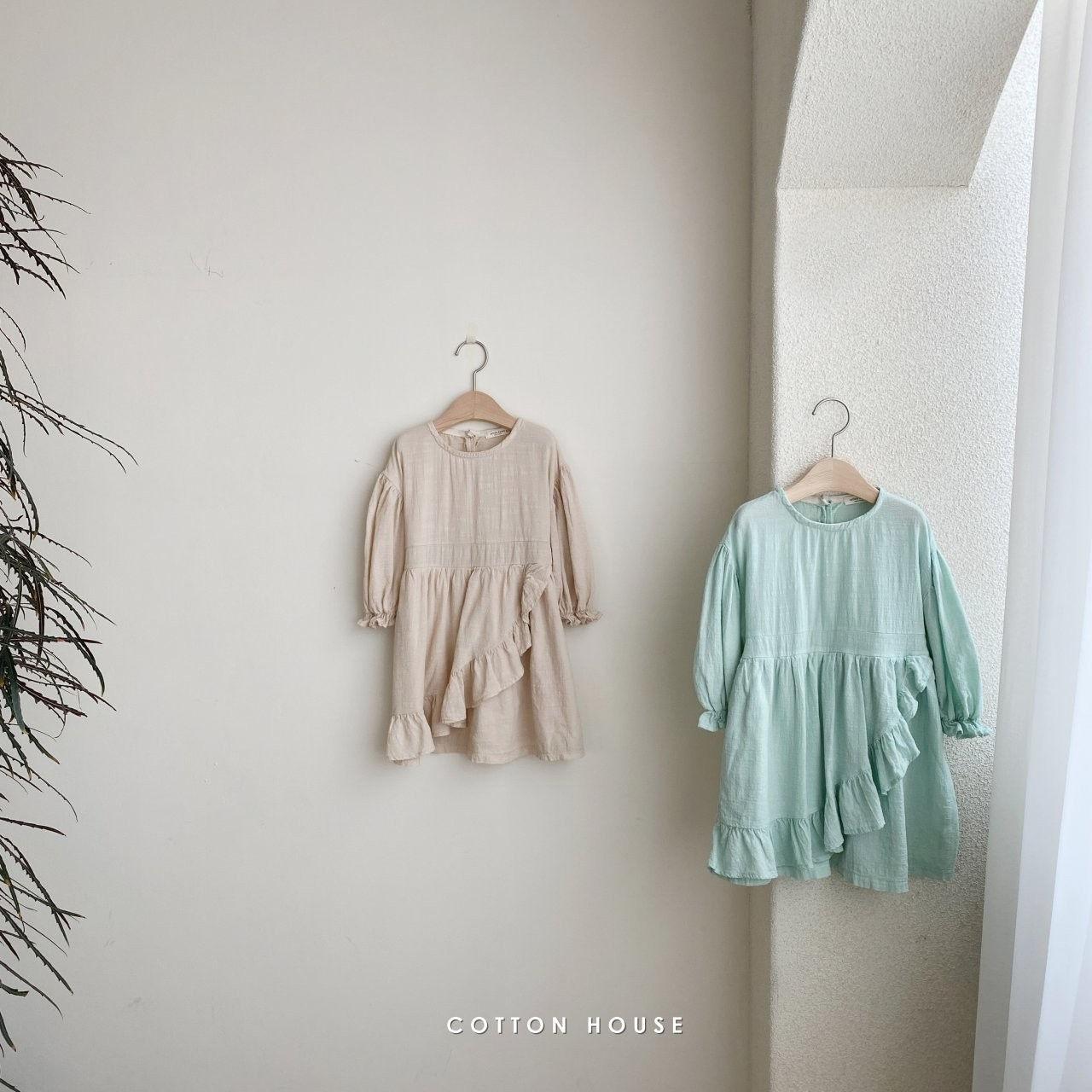 COTTON HOUSE - Korean Children Fashion - #Kfashion4kids - Frill One-piece - 3