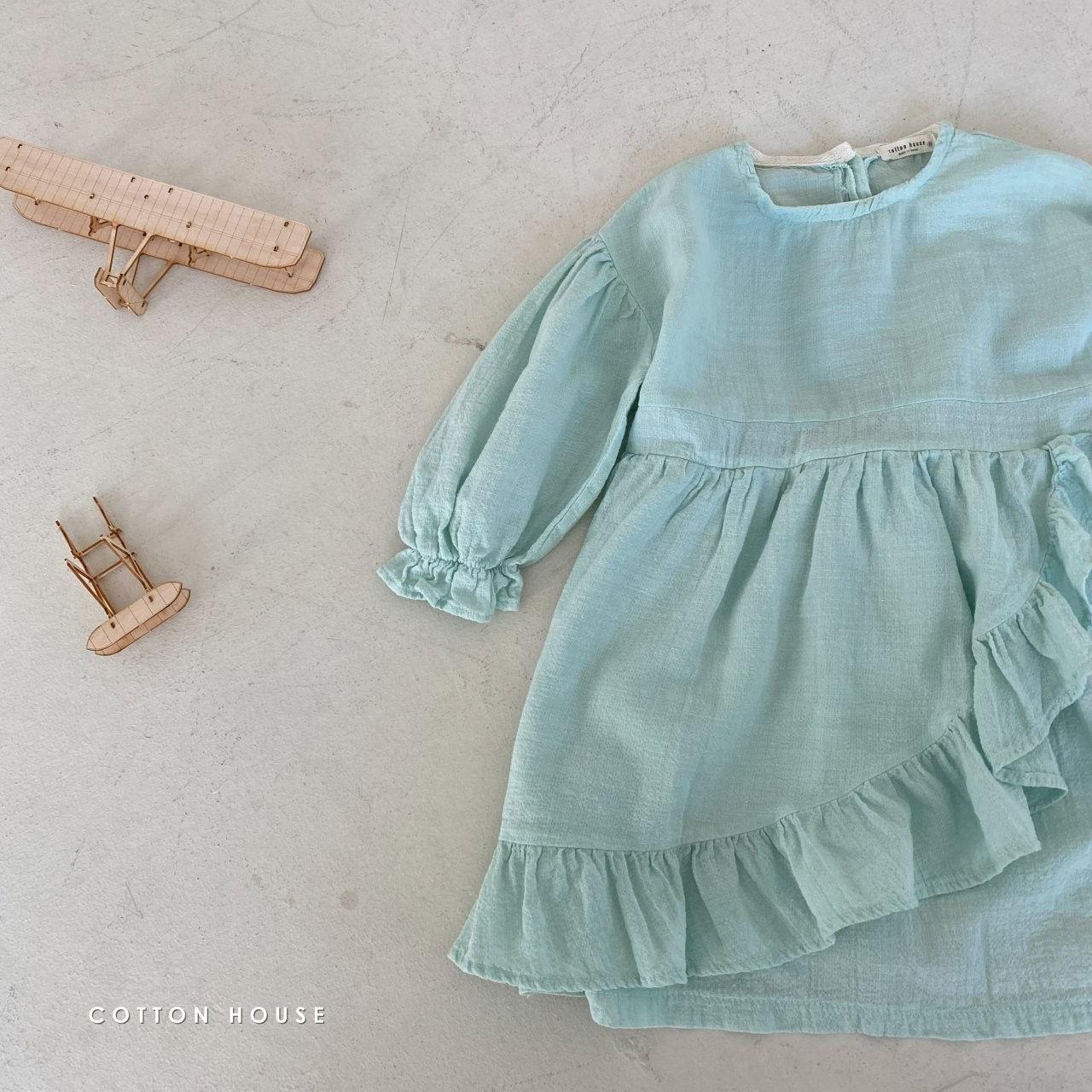 COTTON HOUSE - Korean Children Fashion - #Kfashion4kids - Frill One-piece - 5
