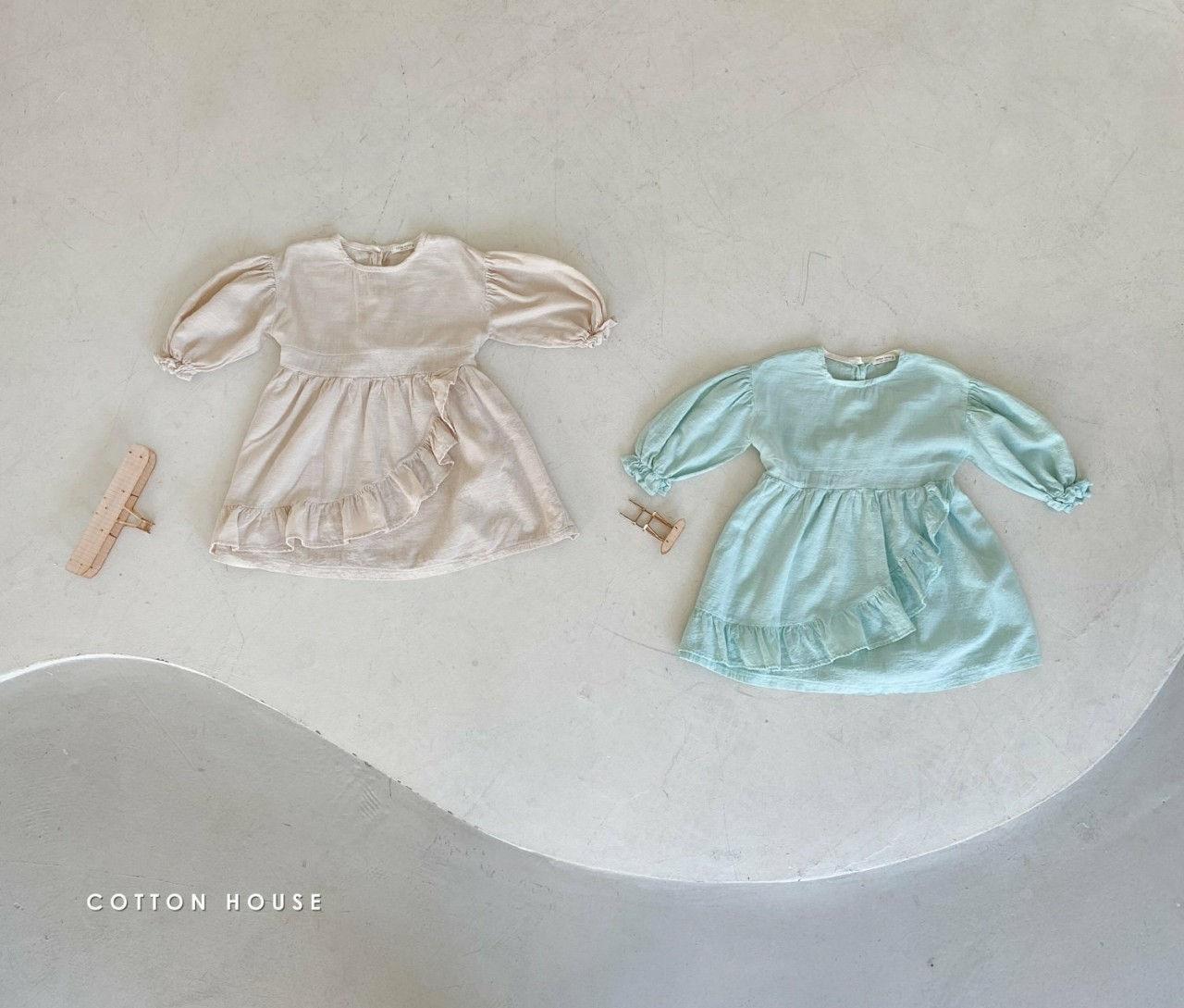 COTTON HOUSE - Korean Children Fashion - #Kfashion4kids - Frill One-piece - 6