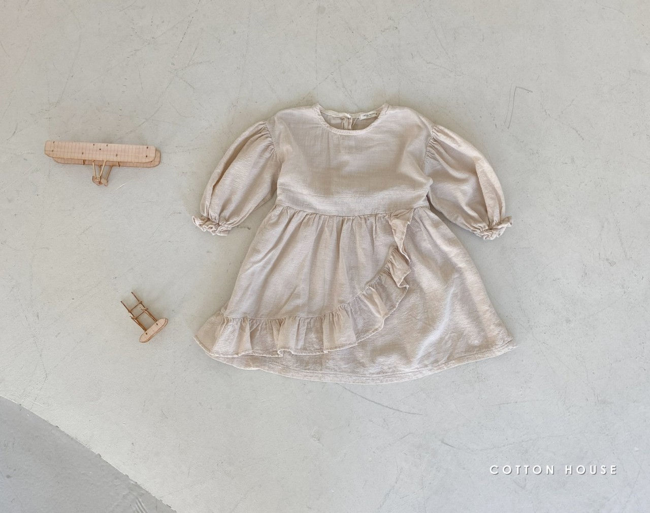 COTTON HOUSE - Korean Children Fashion - #Kfashion4kids - Frill One-piece - 9