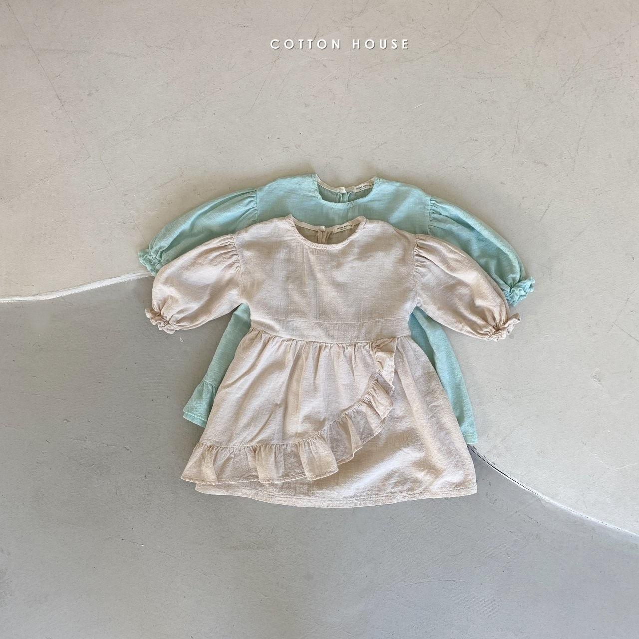 COTTON HOUSE - BRAND - Korean Children Fashion - #Kfashion4kids - Frill One-piece