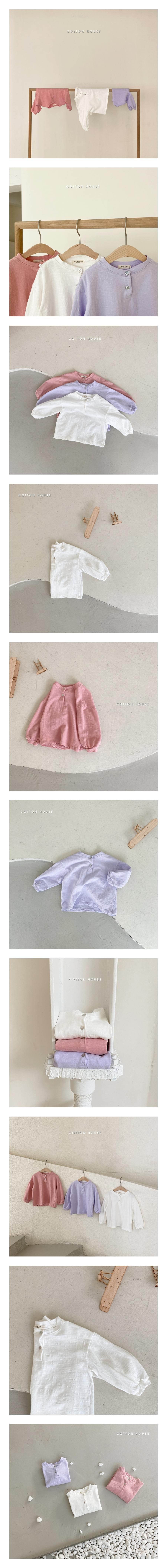 COTTON HOUSE - Korean Children Fashion - #Kfashion4kids - Button Slub Tee