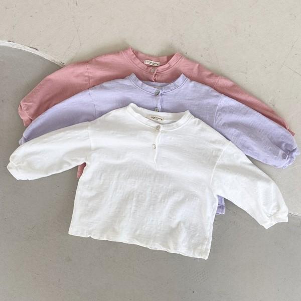 COTTON HOUSE - BRAND - Korean Children Fashion - #Kfashion4kids - Button Slub Tee