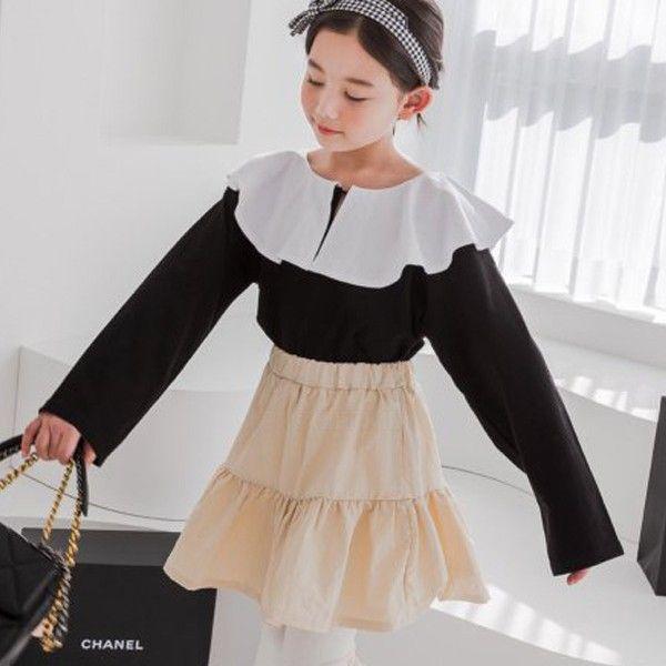 DORE DORE - BRAND - Korean Children Fashion - #Kfashion4kids - Layered Collar Tee