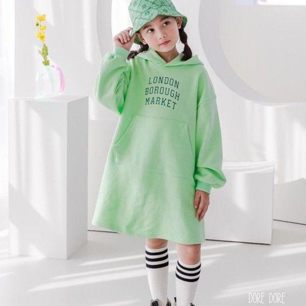 DORE DORE - BRAND - Korean Children Fashion - #Kfashion4kids - London Hood One-piece