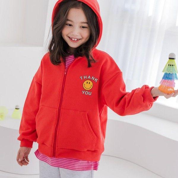 DORE DORE - BRAND - Korean Children Fashion - #Kfashion4kids - Thank You Hood Zip-up Jacket
