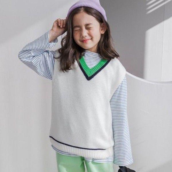 DORE DORE - BRAND - Korean Children Fashion - #Kfashion4kids - Daily Knit Vest