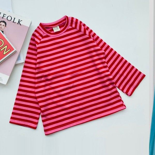 DORE DORE - BRAND - Korean Children Fashion - #Kfashion4kids - Raglan Stripe Tee