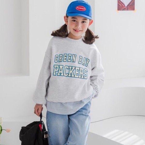 DORE DORE - BRAND - Korean Children Fashion - #Kfashion4kids - Green Bay Sweatshirt