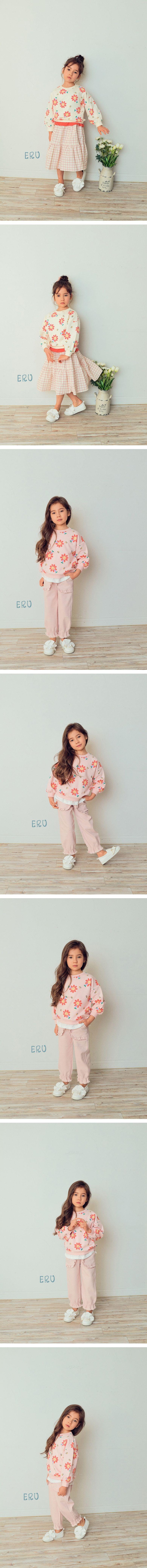 E.RU - Korean Children Fashion - #Kfashion4kids - Flower Smile Tee