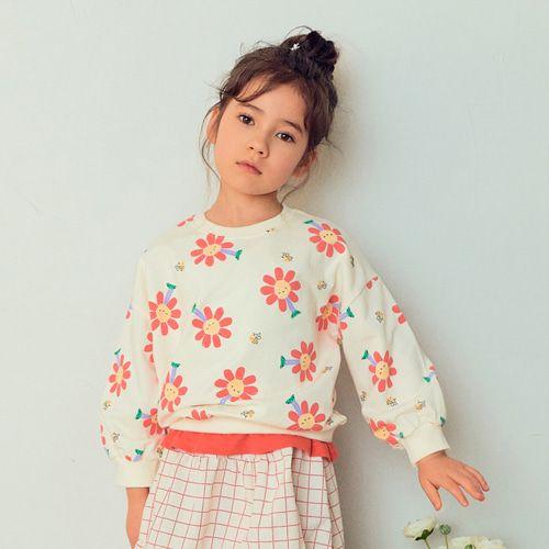 E.RU - BRAND - Korean Children Fashion - #Kfashion4kids - Flower Smile Tee