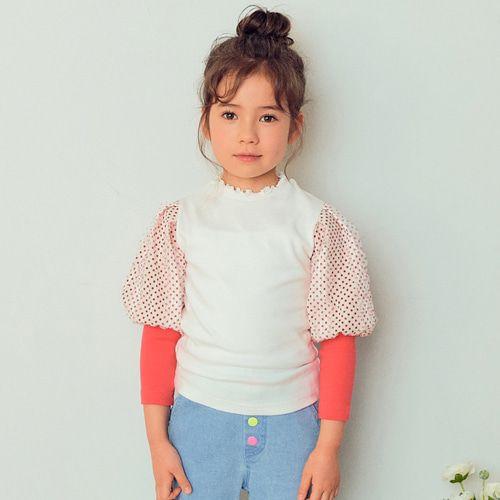 E.RU - BRAND - Korean Children Fashion - #Kfashion4kids - Dot Balloon Tee