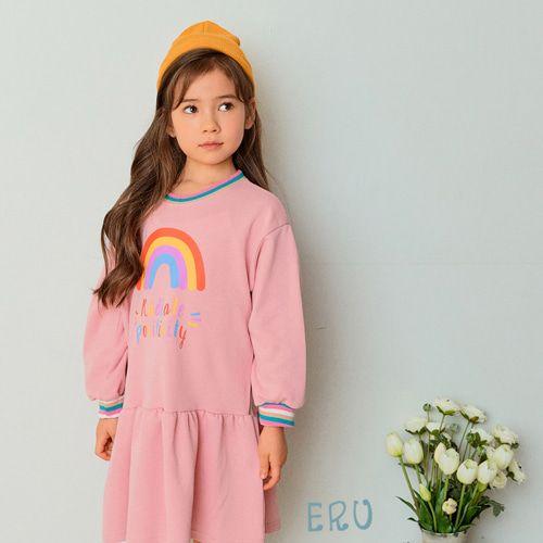E.RU - BRAND - Korean Children Fashion - #Kfashion4kids - Rainbow One-piece