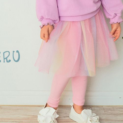 E.RU - BRAND - Korean Children Fashion - #Kfashion4kids - Rainbow Skirt Leggings