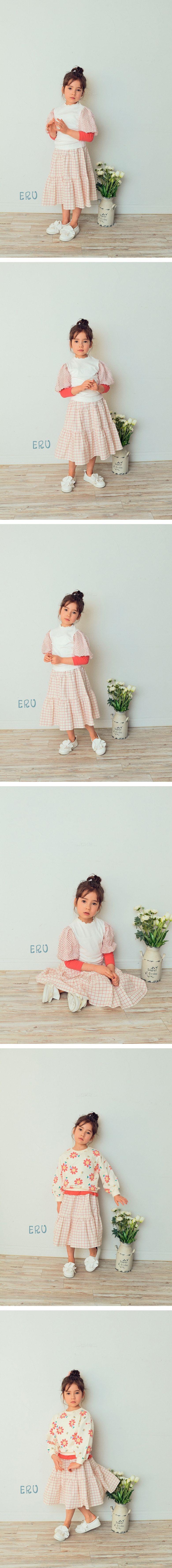 E.RU - Korean Children Fashion - #Kfashion4kids - Ellin Check Skirt