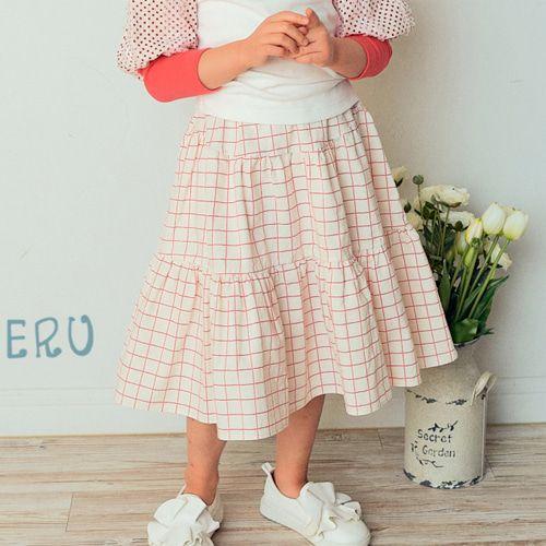 E.RU - BRAND - Korean Children Fashion - #Kfashion4kids - Ellin Check Skirt