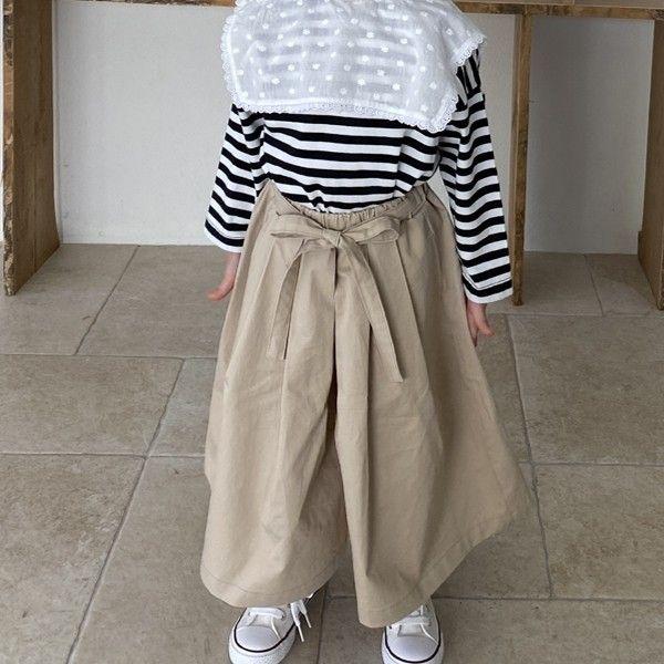GREEN TOMATO - BRAND - Korean Children Fashion - #Kfashion4kids - Ribbon Skirt Pants