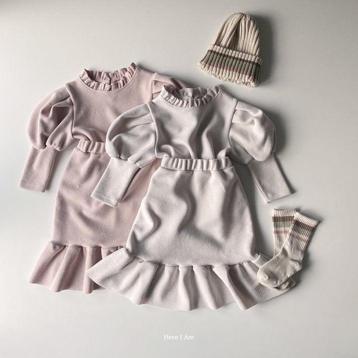 HERE I AM - Korean Children Fashion - #Kfashion4kids - Amand Top Skirt Set