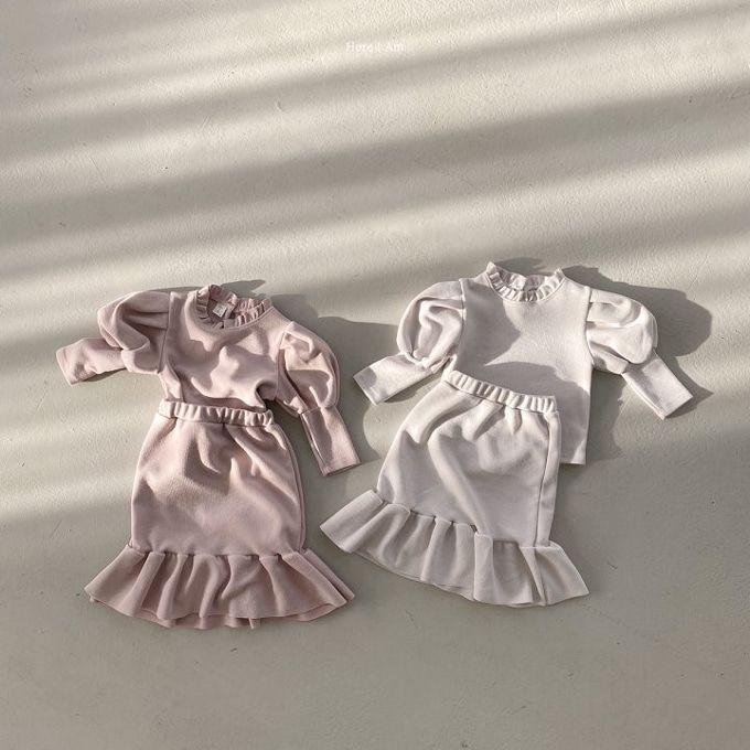 HERE I AM - BRAND - Korean Children Fashion - #Kfashion4kids - Amand Top Skirt Set