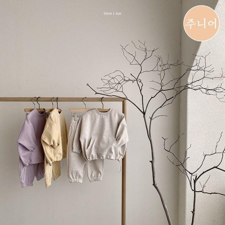 HERE I AM - Korean Children Fashion - #Kfashion4kids - Mild String Top Bottom Set