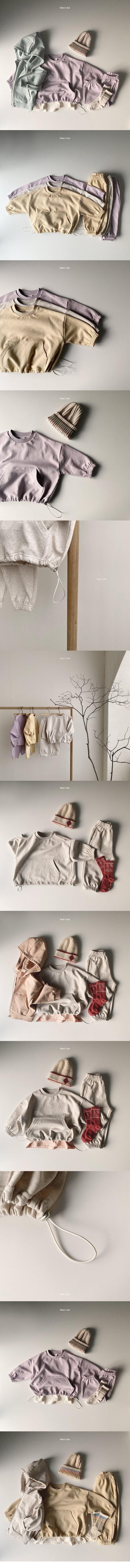 HERE I AM - Korean Children Fashion - #Kfashion4kids - Mild String Top Bottom Set - 2