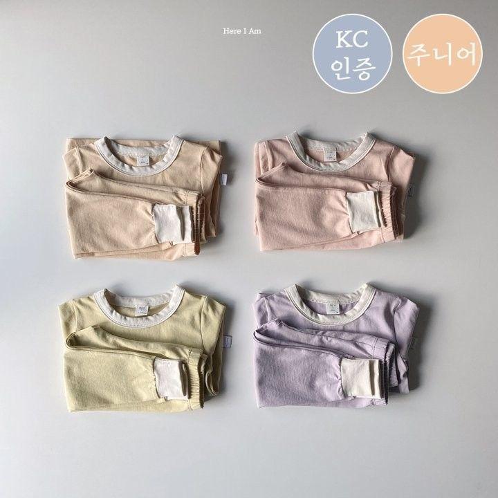 HERE I AM - Korean Children Fashion - #Kfashion4kids - Milk Loungwear Set