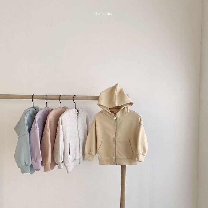 HERE I AM - BRAND - Korean Children Fashion - #Kfashion4kids - Weekly Hood Zip-up Jacket