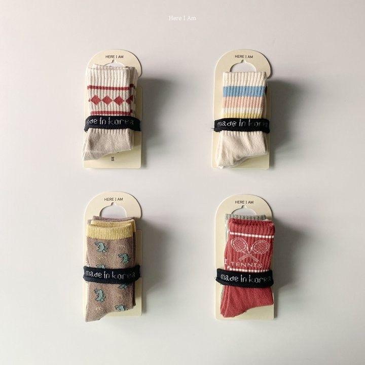 HERE I AM - Korean Children Fashion - #Kfashion4kids - Here I Am Socks [set of 2]