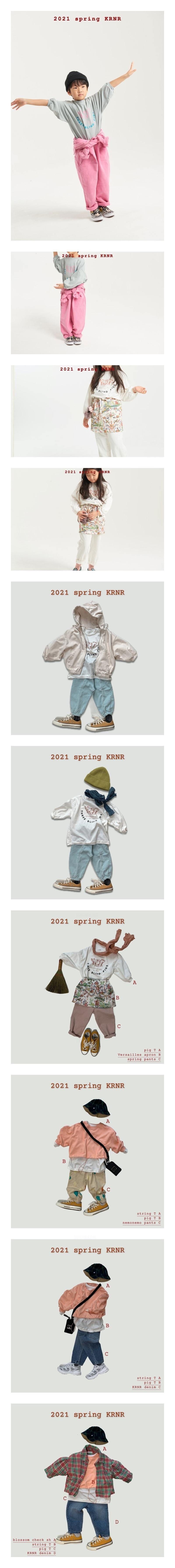 KURENARD - Korean Children Fashion - #Kfashion4kids - Pigment Long Tee