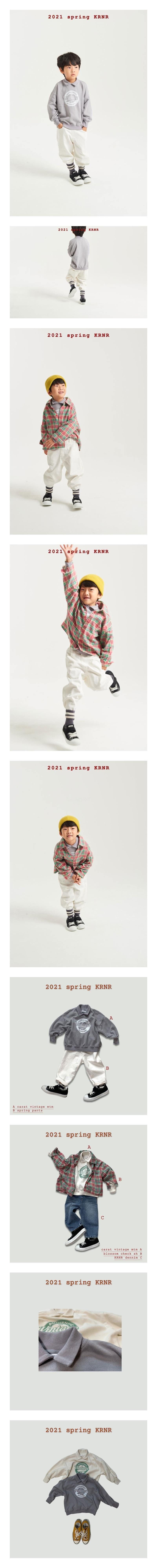 KURENARD - Korean Children Fashion - #Kfashion4kids - Collar Vintage Sweatshirt
