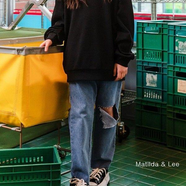 MATILDA & LEE - BRAND - Korean Children Fashion - #Kfashion4kids - Vintage Denim Pants