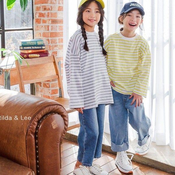 MATILDA & LEE - BRAND - Korean Children Fashion - #Kfashion4kids - Smile Stripe Tee