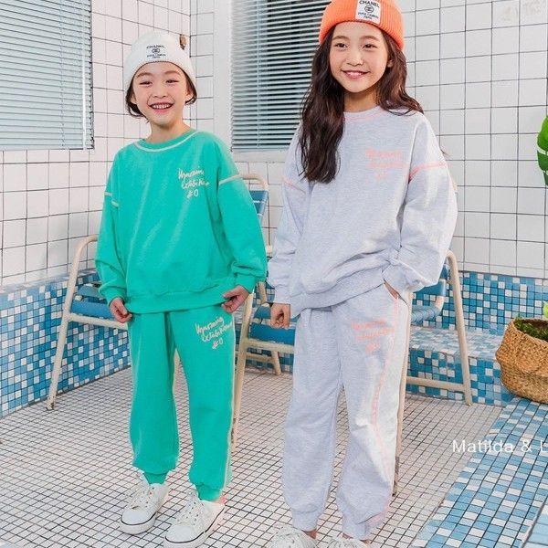 MATILDA & LEE - BRAND - Korean Children Fashion - #Kfashion4kids - Bono Top Bottom Set