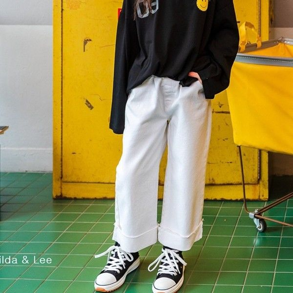MATILDA & LEE - BRAND - Korean Children Fashion - #Kfashion4kids - Roll-up Cotton Pants