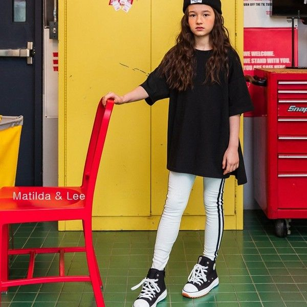 MATILDA & LEE - BRAND - Korean Children Fashion - #Kfashion4kids - Two Lines Leggings