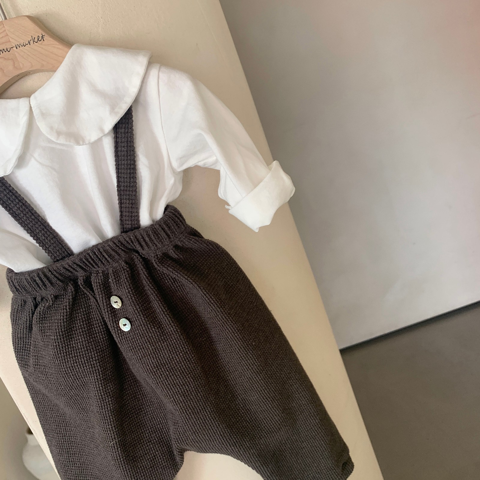 MIMI MARKET - Korean Children Fashion - #Kfashion4kids - Cookie Suspender Pants - 4