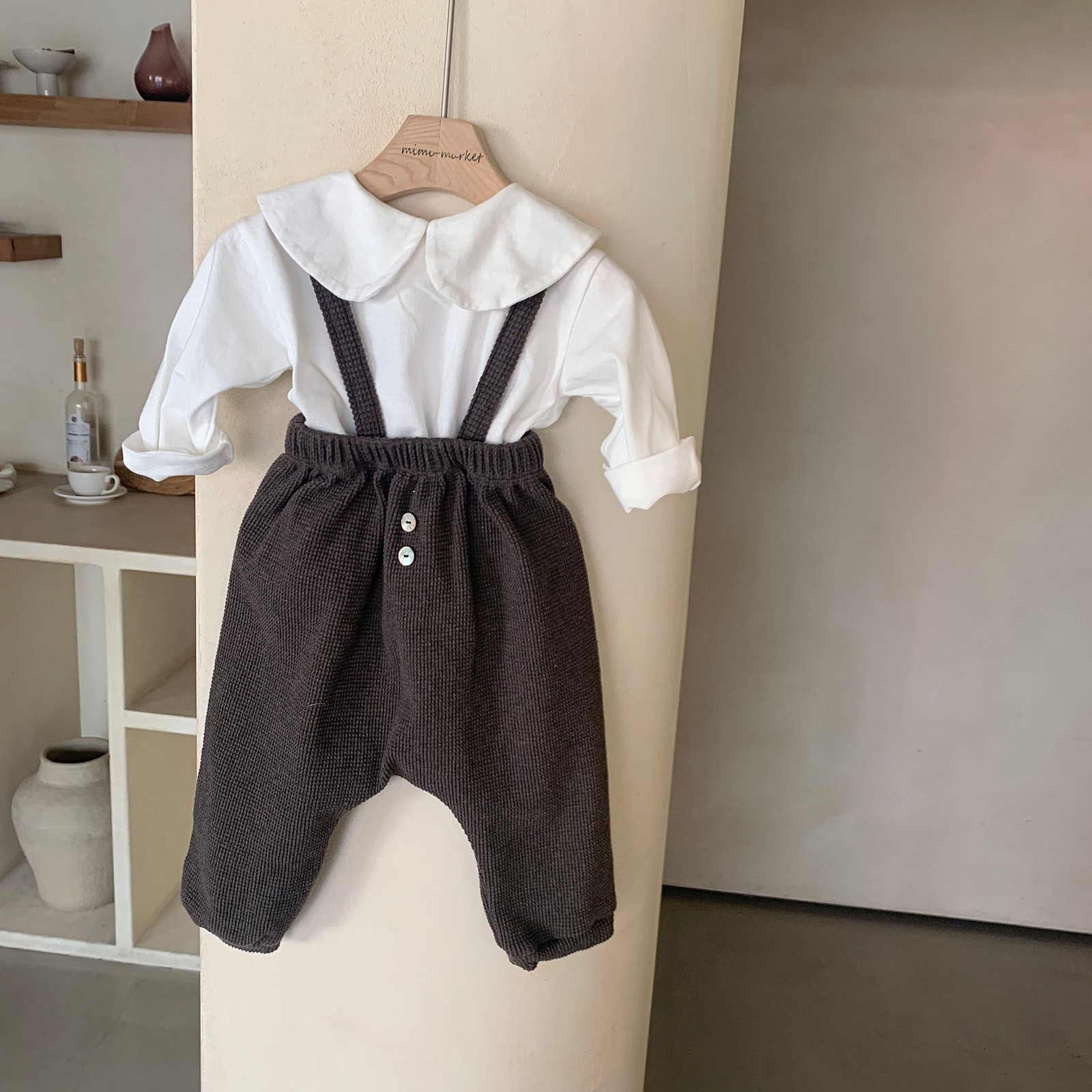 MIMI MARKET - Korean Children Fashion - #Kfashion4kids - Cookie Suspender Pants - 5