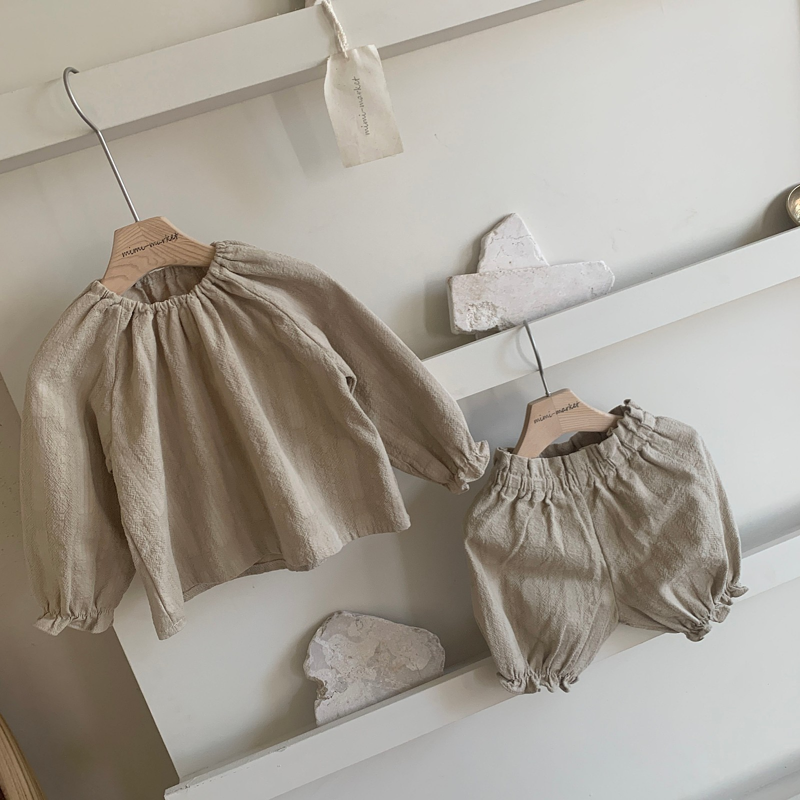 MIMI MARKET - Korean Children Fashion - #Kfashion4kids - Hao Blouse Bloomer Set - 9